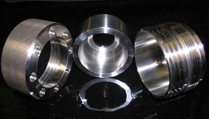 Prototype part machined in stainless steel by True Position Machine, a machine shop in NH.