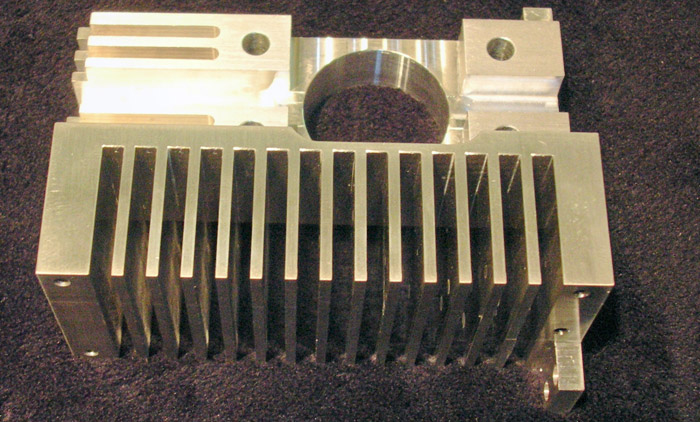 Rapid prototype xeon lamp housing machined by TPM, a machine shop north of Boston in NH.
